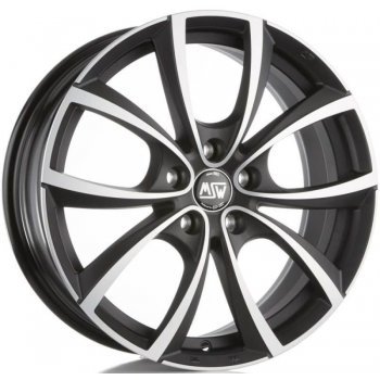 Janta aliaj MSW MSW 27 7.5x17 5x100 et35 matt dark titanium full polished