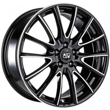 Janta aliaj MSW MSW 86 7.5x17 5x100 et35 BLACK FULL POLISHED