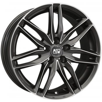 Janta aliaj MSW MSW 24 6.5x15 4x100 et37 MATT GUN METAL FULL POLISHED