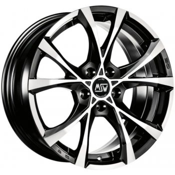 Janta aliaj MSW CROSS OVER 7.5x17 5x100 et35 BLACK FULL POLISHED