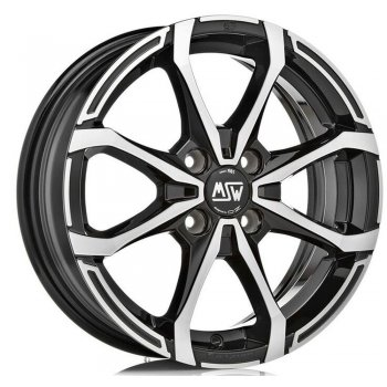Janta aliaj MSW MSW X4 5x15 4x100 et32 BLACK FULL POLISHED