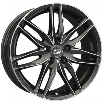 Janta aliaj MSW MSW 24 6.5x15 4x108 et42 MATT GUN METAL FULL POLISHED