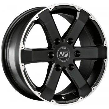 Janta aliaj MSW MSW 46 7.5x17 6x139.7 et20 matt black full polished