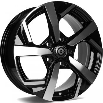 Janta aliaj Carbonado Quincy 6.5x16 5x114.3 et40 BFP - Black Front Polished