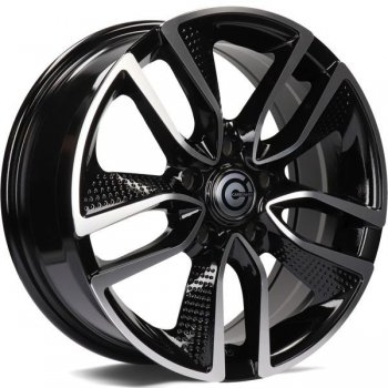 Janta aliaj Carbonado Force 6.5x16 5x114.3 et40 BFP - Black Front Polished