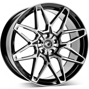 Janta aliaj Wrath Wheels WF-6 8x18 5x112 et42 BP - Black polished
