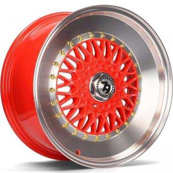 Janta aliaj Seventy9 SV-F 7x16 4x100 et35 Red LP - Red Lip Polished