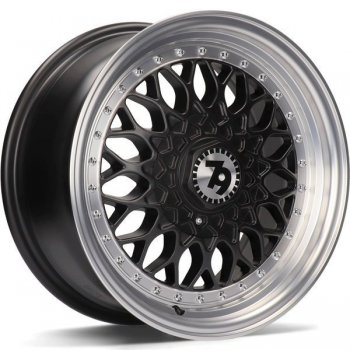 Janta aliaj Seventy9 SV-E 7x15 4x100 et30 DMBLP - Matt Black Front Polished Lip Polished