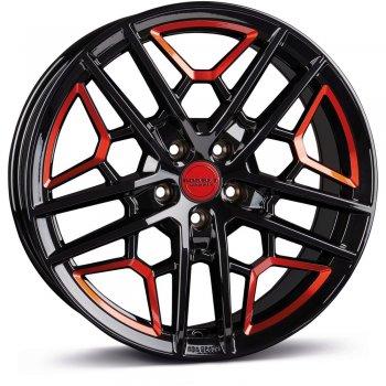Janta aliaj BORBET GTY 8.5x19 5x112 et45 BLACK RED GLOSSY