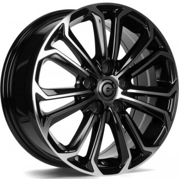 Janta aliaj Carbonado Panther 6.5x16 5x108 et45 BFP - Black Front Polished