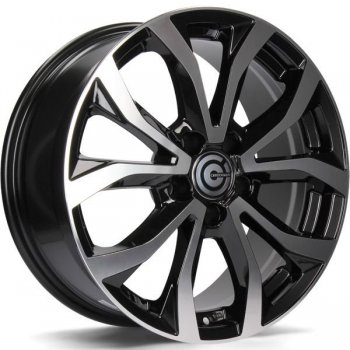 Janta aliaj Carbonado Tiger 7.5x17 5x112 et35 BFP - Black Front Polished