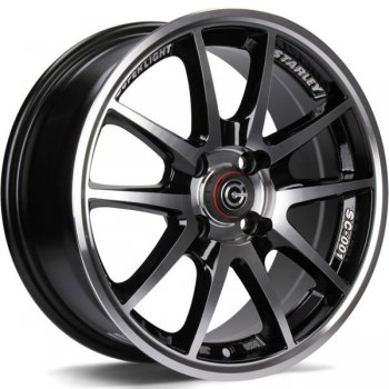 Janta aliaj Carbonado Superlight 6.5x15 4x100 et35 BFP - Black Front Polished