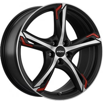 Janta aliaj RONAL R62 RED 7.5x17 5x108 et45 Dull Black / Polished
