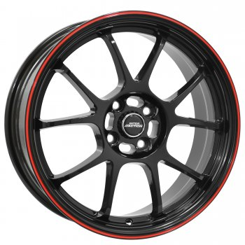Janta aliaj INTER ACTION PHOENIX 7x16 4x098 et37 Gloss Black / Red