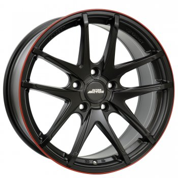 Janta aliaj INTER ACTION RED HOT 7.5x17 5x100 et35 Dull Black / Red