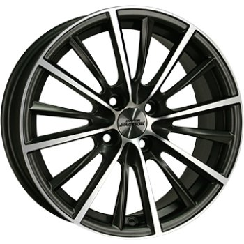 Janta aliaj INTER ACTION VELOCITY 6.5x15 4x108 et25 Dull Anthracite / Polish