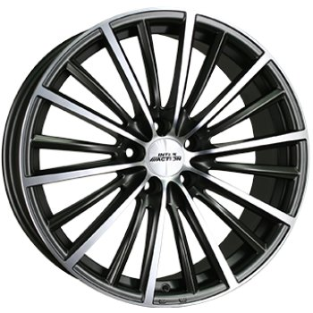 Janta aliaj INTER ACTION VELOCITY 7x17 5x100 et35 Dull Anthracite / Polish