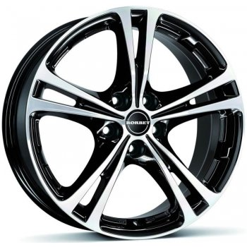 Janta aliaj BORBET XL 7.5x17 5x100 et35 BLACK POLISHED