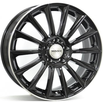 Janta aliaj MONACO MC9 8.5x19 5x112 et45 Black / Polished lip