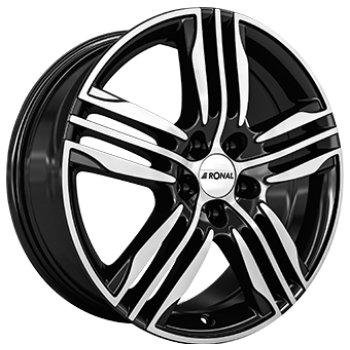 Janta aliaj RONAL R57 7.5x17 5x108 et45 Gloss Black / Polished