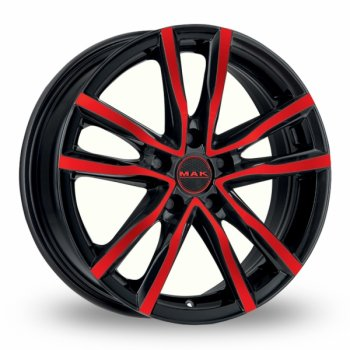 Janta aliaj MAK MILANO 6.5x16 5x100 et40 BLACK AND RED