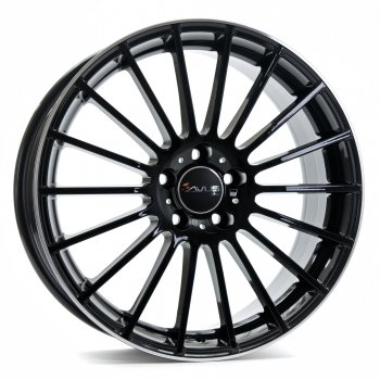 Janta aliaj AVUS AC-M03 7.5x17 5x108 et45 BLACK POLISHED LIP