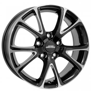 Janta aliaj INTER ACTION PULSAR 6x15 5x100 et38 Gloss Black / Polished