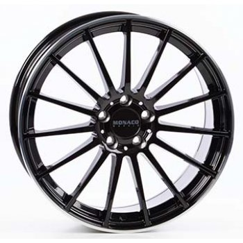 Janta aliaj MONACO MC1 8.5x19 5x112 et45 Gloss Black / Polished lip